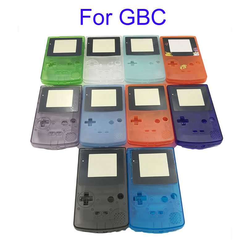 5pcs For GBC Luminous Shell Replacement For <font><b>Gameboy</b></font> <font><b>Color</b></font> GBC <font><b>game</b></font> console full housing image