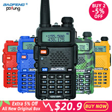 Baofeng UV-5R Walkie Talkie Professional CB Radio Station Baofeng UV5R Transceiver 5W VHF UHF Portable UV 5R Hunting Ham Radio(China)