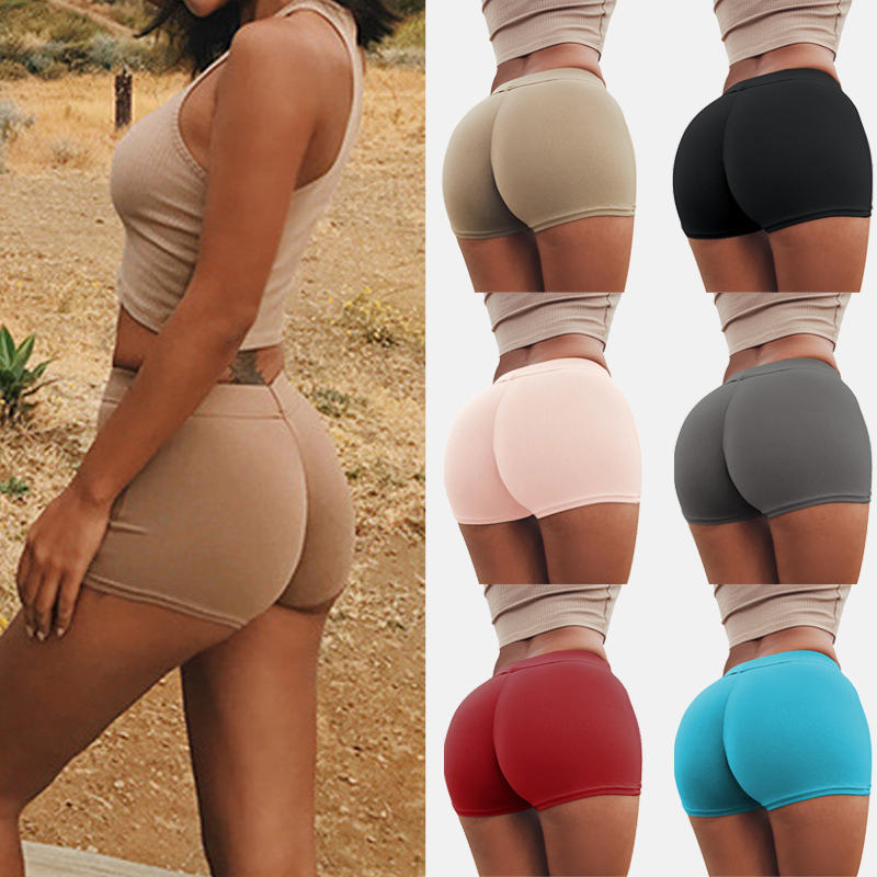 Safety Shorts Pants Women Solid Skinny Sports Shorts Casual Ladies Beach Running Gym Outdoor Hot Plus Size Slimming Underwear