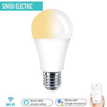 Умный светодиодный светильник e27 с wi fi лампа c + w 1/2/3/4