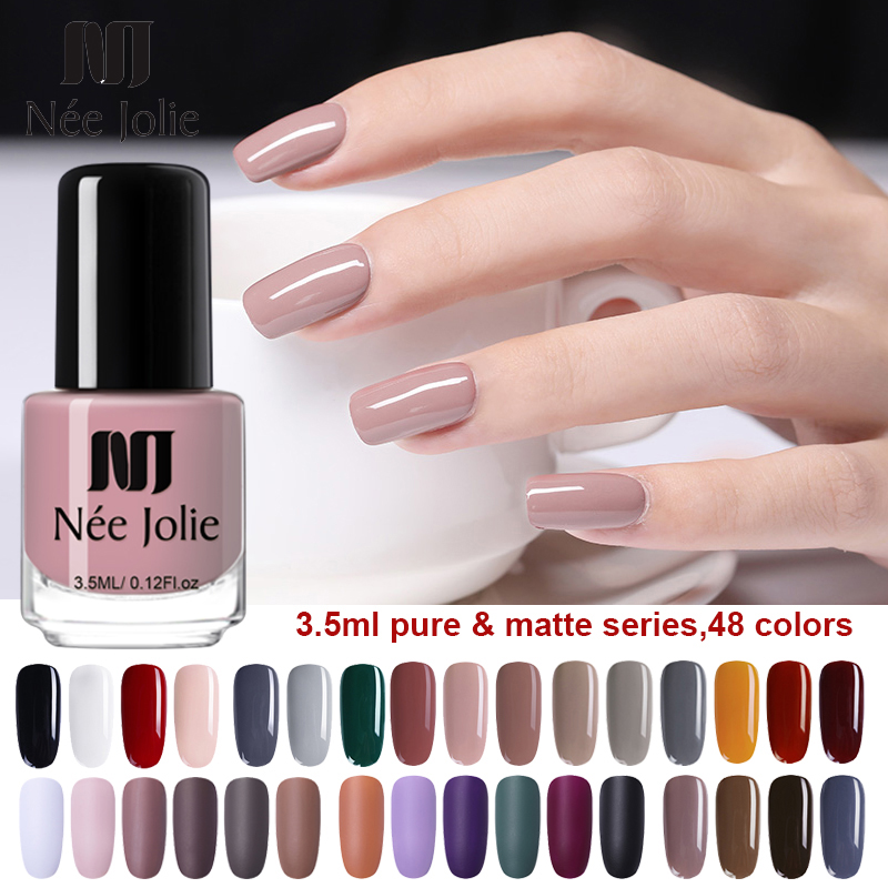 NEE JOLIE 3.5ml Black White Color Nail Polish Chameleon Effect Nail Art Varnish Pearl Matte Nail Varnish  For Nail Art