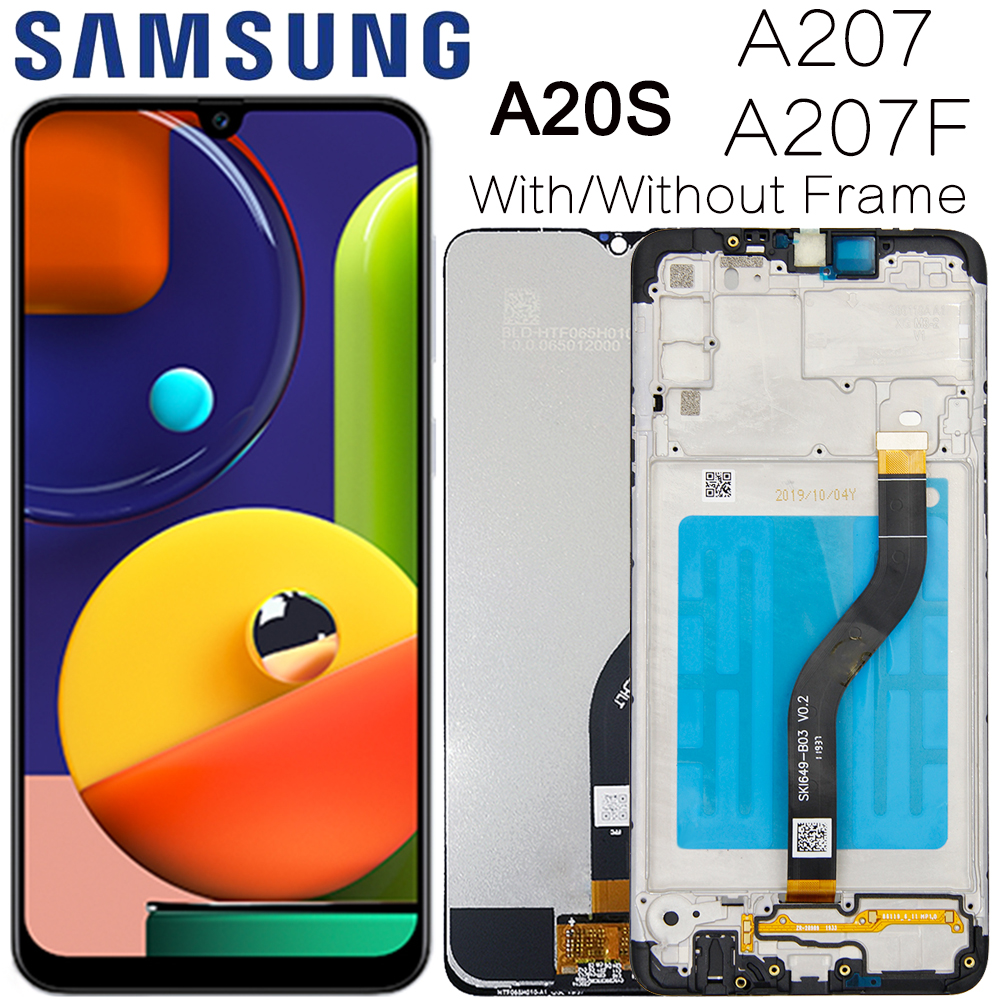 Original LCD For SAMSUNG Galaxy A20s A207 A2070 SM-A207F LCD Display Screen Digitizer Assembly Repacement Parts For A20S