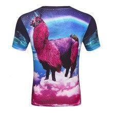 Ruimte GalaxyT Shirt Animal Lama Pacos T-shirt Print mannen 3d T-Shirt Fashion Grappige Grafische Tee Shirts Grote Maat