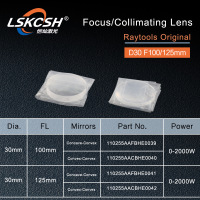 RayTools Original Collimating lens Focus Lens D30 F100 125mm for raytools fiber laser cutting head BT240S BM111 BT240 Bodor