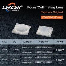 Raytools original colimating lente foco d30 f100 125mm para raytools fibra cabeça de corte a laser bt240s bm111 bt240 bodor