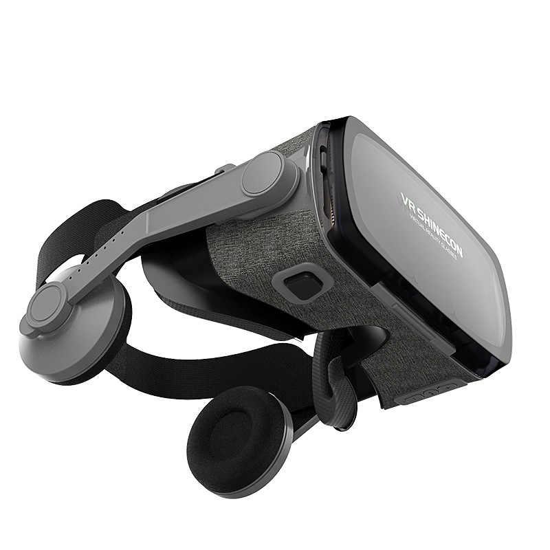 VR Shinecon SC-G07ED VR Virtual Reality Kacamata 3D VR Kacamata Headset untuk Miopia Pengguna untuk 4.7-6.1 Inci ponsel