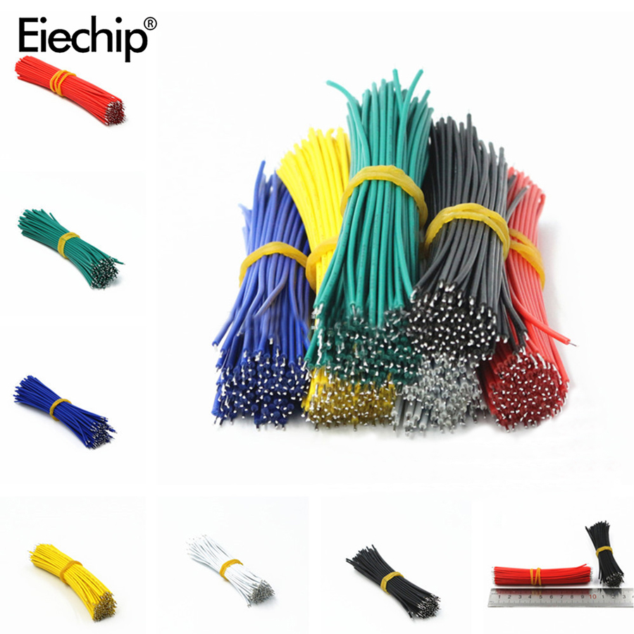 Jumper Wire Connector-Wire Breadboard Solder-Cable Tin-Plated 24AWG PCB Fly 8cm 120pcs/Set