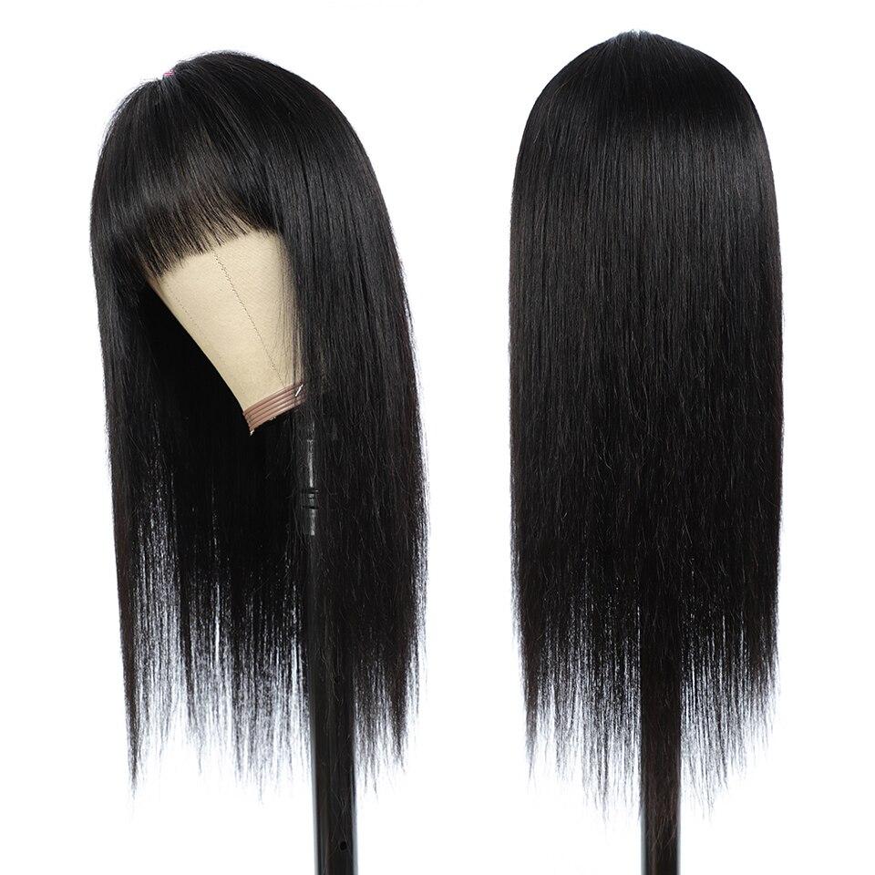 cabelo humano para as mulheres 8-26 Polegada peruca de franja