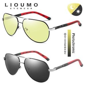Image 3 - Luftfahrt Sonnenbrille Männer Polarisierte Photochrome Tag Nacht Fahren Sonnenbrille Für Pilot Frauen Brillen UV400 gafas de sol hombre