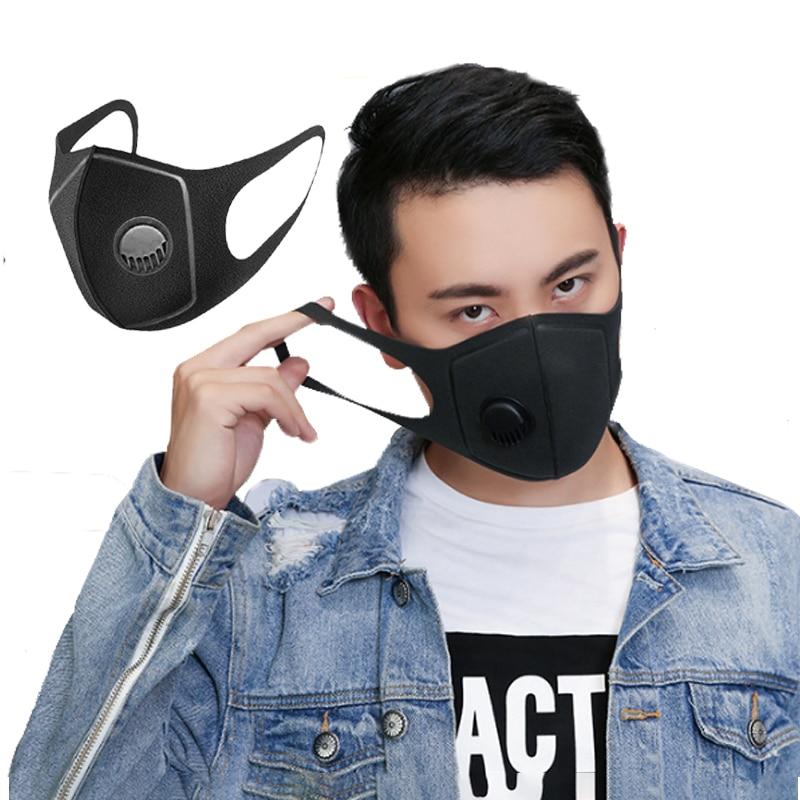 Черная маска, защитные маски, маска для лица, фильтр для женщин и мужчин, хлопок, анти туман, анти пылезащитные маски|Маски| | - AliExpress