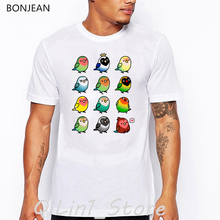 funny t shirts men Chubby Cockatiels bird print t-shirt camisetas hombre harajuku shirt summer tops tee shirt homme streetwear цена и фото