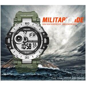 Image 3 - SMAELนาฬิกาแฟชั่นผู้ชายกีฬานาฬิกากันน้ำ5Bar ChronographนาฬิกาAnalogนาฬิกาปลุกนาฬิกาข้อมือReloj Hombre 1548