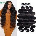30, 40 дюймов, бразильские пучки волос Virgo, искусственные волнистые пупряди, длинные волосы для наращивания без повреждений, 1, 3, 4 шт., уток воло...