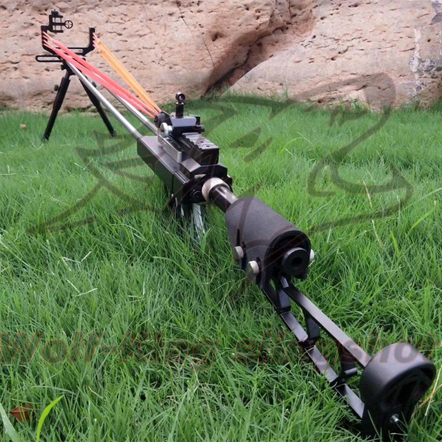 Wolf King Powerful catapult Hunting Slingshot Rifle Double Safety Device Stainless Steel Sight For Shooting Outdoor WK01 1