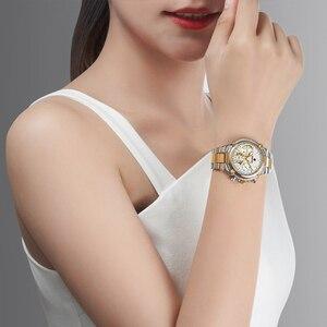Image 5 - KADEMAN lüks kadın saatler klasik tasarım çelik kayış tarih kuvars bayanlar izle kadın kol saati kız saat Relogio Feminino