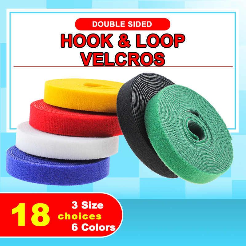 5 เมตรกาวเทปคู่ Velcros Hook และ LOOP NYLON Magic สติกเกอร์เทป