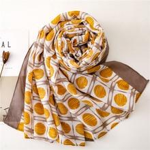 accesorios mujer foulard femme vintage plaid scarf women autumn chic long yellow dot scarf Sjaal Muslim Hijab Snood