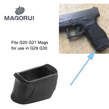 MAGORUI Rubber Grip Adapter For GLOCK 29-30 Fit G20 G21 Mags for use in G29 G30 image