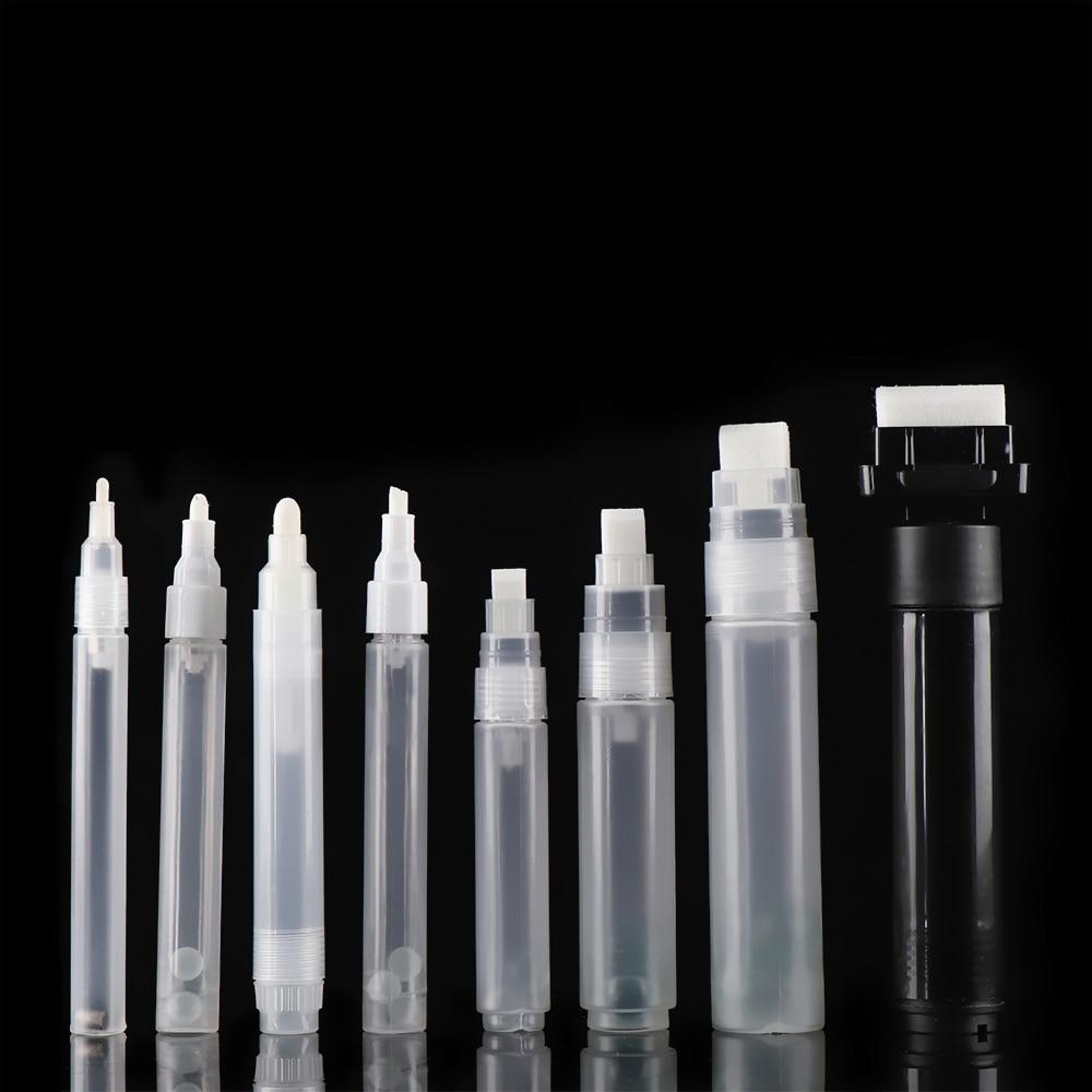 1 шт. Пластиковый пустой стержень для ручки 3 мм 5 мм 6,5 мм 8 мм 10 мм бочки для ручки граффити жидкий мел, Меловые маркеры аксессуары для ручки