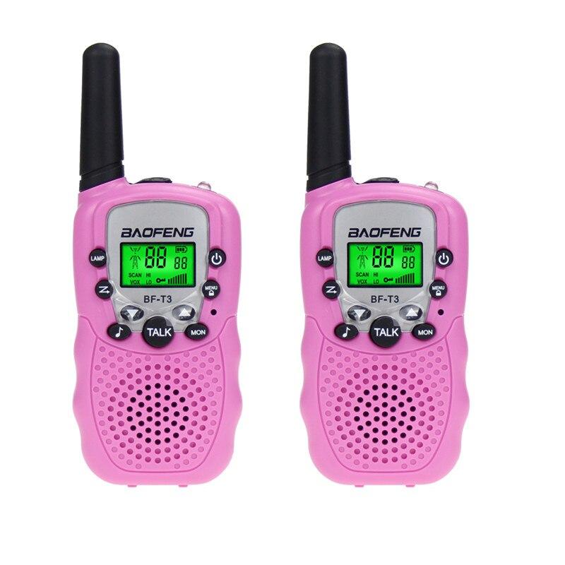 BF-T3 Walkie Talkie Mini Portable Kids Toy Two Way Radio UHF 462-467MHz 8 Channel Handheld Woki Toki For  Baofeng 2 Pcs