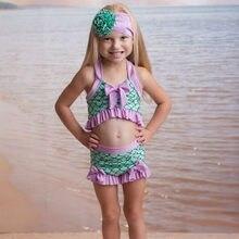 Estate bambino bambini neonate stampa Bowknot costumi Da Bagno Costume Da Bagno Bikini completi Bebek Mayo Costume Da Bagno Ragazza HOOLER