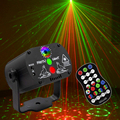 Dropshipping Mini RGB Disco Light DJ Lamp LED Laser Stage Projector Red Green Lamp for Wedding Birthday Home Party Voice Control