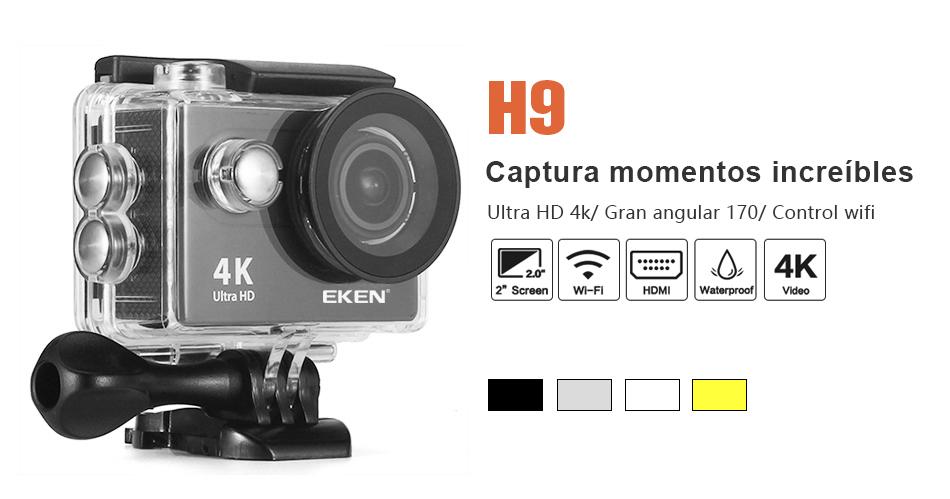 """EKEN H9R/H9 Ultra HD 4 K/30fps WiFi 2,0 """"170D impermeable bajo el agua 13"""