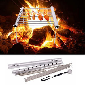 Barbecue-Accessories Bbq-Grill-Rack Foldable Stainless-Steel Outdoor-Use Mini Home Camping