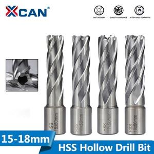 Image 1 - XCAN 50mm Length HSS Hollow Drill Bit Weldon Shank Magnetic Drill Bit Metal Hole Cutter Core Drill Bit 15/16/17/18mm
