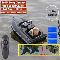 Fixed Speed Cruise New Function Intelligent Wireless Rc Lure Boat Bait Boat 500M 1.5KG Fish Finder RC Fishing Boat With Free Bag