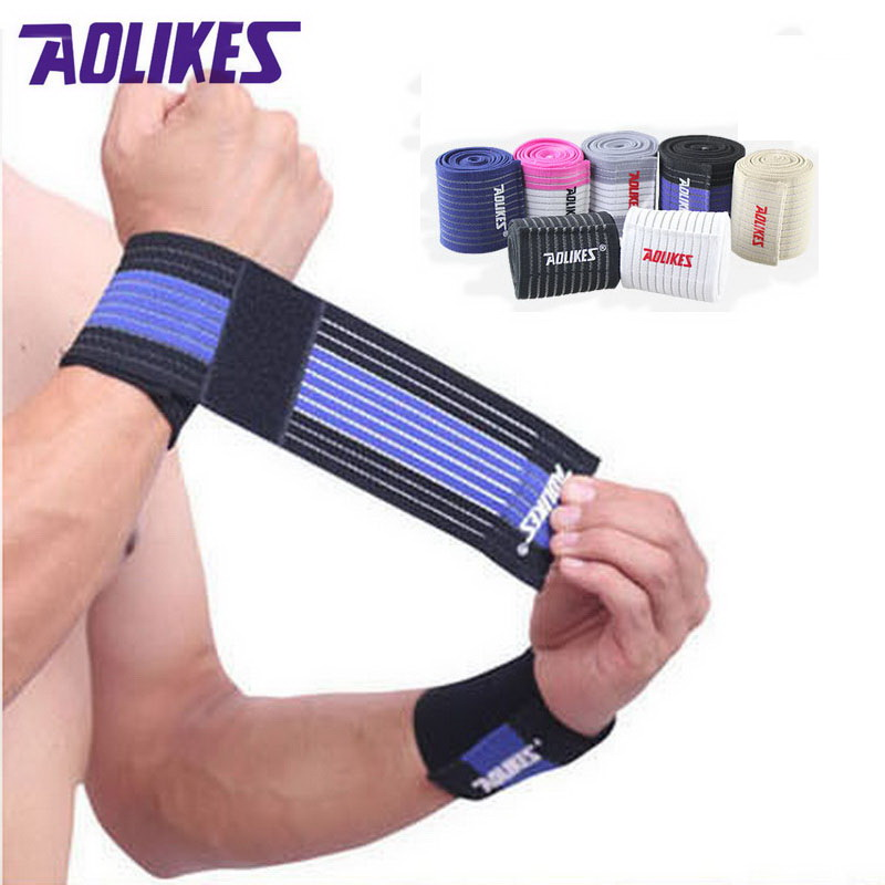 Aolikes 1 pçs banda de pulso das mulheres dos homens elástico bandagem para mão cinta de pulso wrap fitness esporte ginásio suporte protetor de pulso