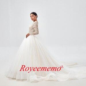 Image 2 - Royeememo Hochzeit Kleid 2020 Appliqued Tüll A linie Sexy Backless Strand Braut Kleid Hochzeit Kleid Kostenloser Versand