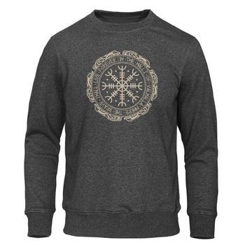 2019 Sweatshirts Retro Classic Viking Valhalla Odin Autumn Winter Sweatshirt Hoodie Men Fashion Print Hoodies Hip Hop Streetwear 2