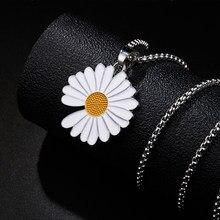Collana di girasole di moda per donna collana con ciondolo collana a catena in acciaio inossidabile gioielli per regali