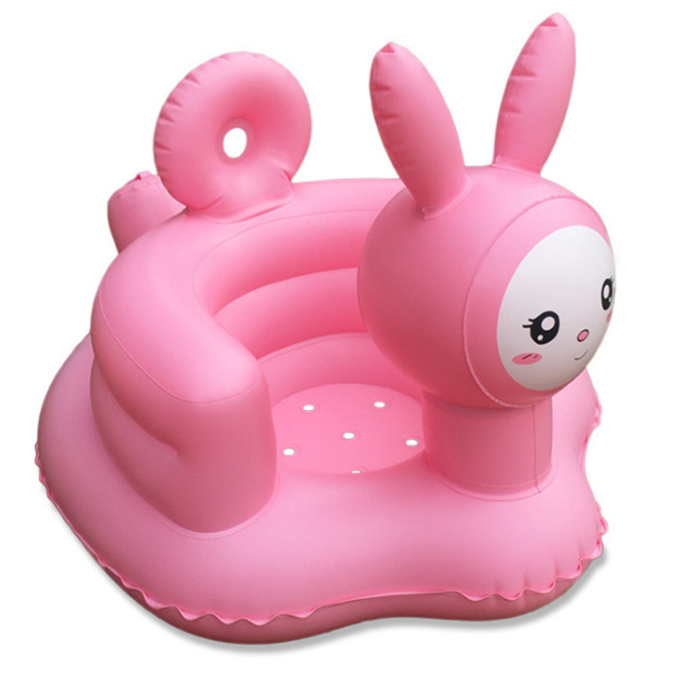 Baby Inflatable Chair PVC Kids Seat Sofa Bath Seats Dining Pushchair Infant Portable Play Game Mat Learn Stool For Kid Baby Gift