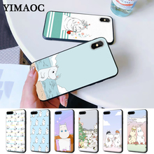 Hippo Cute animal cartoon Protective Silicone Case for iPhone 5 5S 6 6S Plus 7 8 X XS Max XR