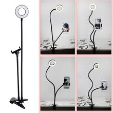 Photo Studio Selfie Led Ring Light With Cell Phone Mobile Holder Stream Makeup Camera Lamp For Iphone For Live Android H3W9
