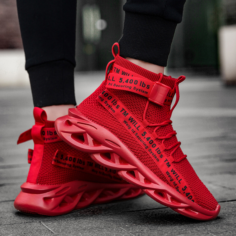 Designers Running Shoes Men Breathable Soft Jogging Mens Sneakers Breathable Stylish Socks Blade Sneakers High Ankle Boots Man