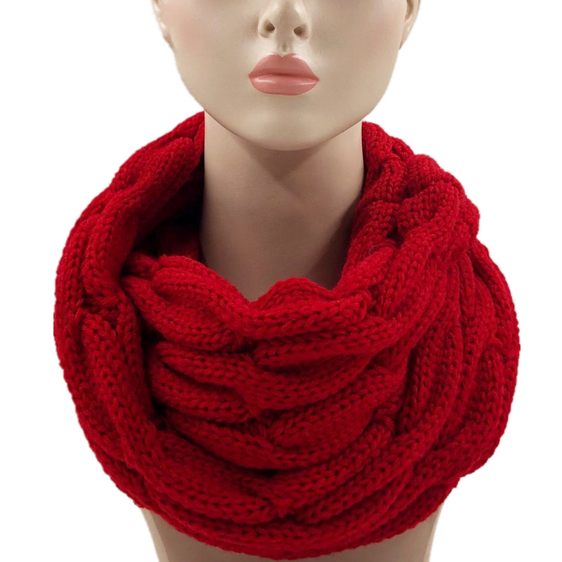 Fashion Knitted Snood Scarf Warm Winter Women Scarf Cashmere Snud For Women Scarf Infinity Scarves Neck Circle Ring Scarf 2019