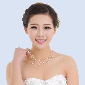 Image 5 - Collier de perles deau douce naturelles pour femmes perles baroques 4 8mm 5 rangées bohême bijoux faits à la main mode spez
