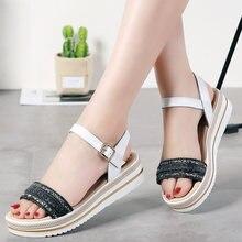 Jzzddown спилок кожаная Летняя обувь для женщин ручное плетение