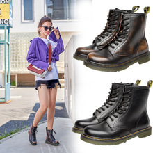 High Quality Genuine Leather Women Martin Boots  Motorcycle Boots Waterproof Ankle Boots  winter shoes women