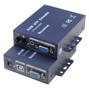 300M VGA KVM Extender Over CAT5e/6 UTP/FTP Cable VGA Extender Up to 1000Ft Support 1920x1200@60Hz VGA For HDTV PS3 PS4