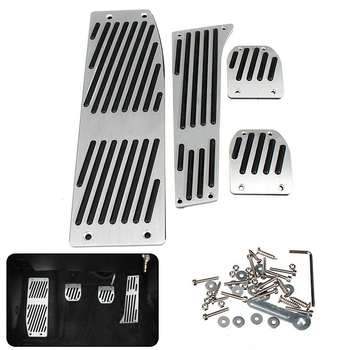 4pcs Car Gas Accelerator Footrest Brake Pedal Pad Cover Kit For BMW 3 Series E30 E36 E46 E93 E84 image