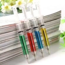 Шариковая ручка для инъекций в форме шприца, 4 цвета, подарок для врача, 1 шт., новая ручка, школьные канцелярские принадлежности, шариковая ручка