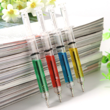 4 Colours Injection Syringe Shape Ball Point Pen Nurse Doctor Gift 1pc New Funny School Stationery Needle Ballpoint