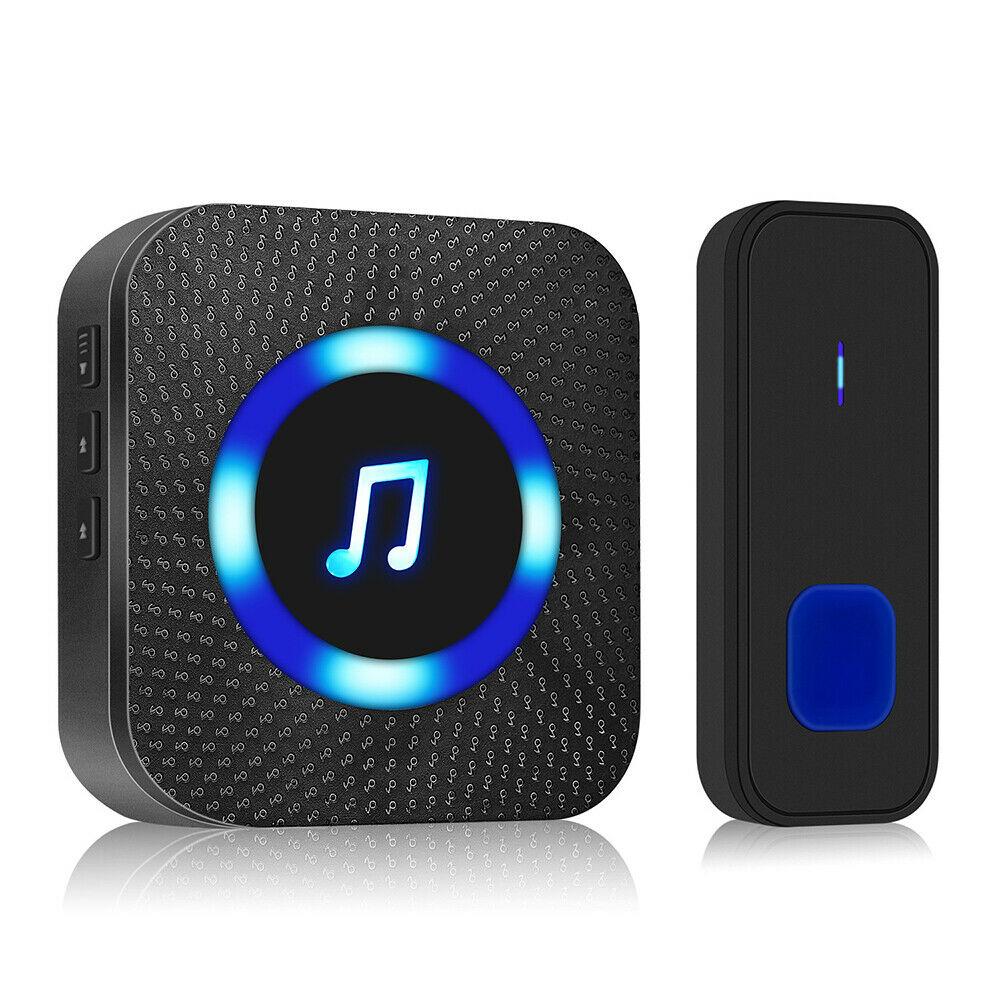 1000ft LED Wireless Doorbell Waterproof Door Bell Outdoor Smart Door Bell Home Security Smart Doorbells