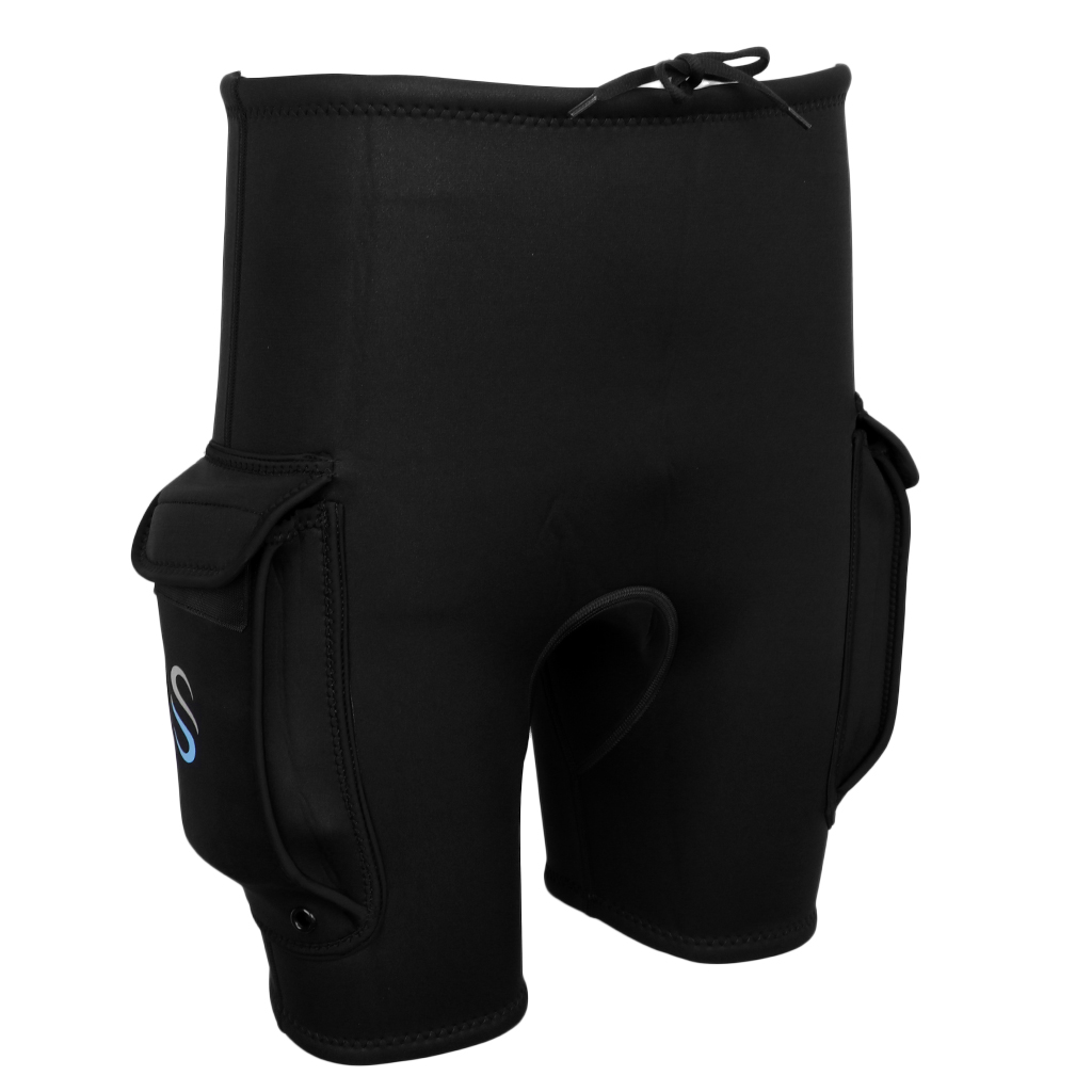 Mens Wetsuit Scuba Diving Tech Shorts with Pockets for Scuba Diving, Snorkeling and Water Sports Choose Sizes