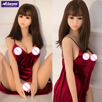 Racyme TPE silicon sex doll 140cm realistic big breast pussy oral love doll sex doll for men Metal Skeleton Solid real sex toy