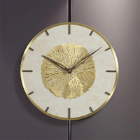 Nordic Luxury Marble Wall Clock Modern Design Atmospheric Style Living Room Decoration Hanging Watch Wall Clocks Home Decor
